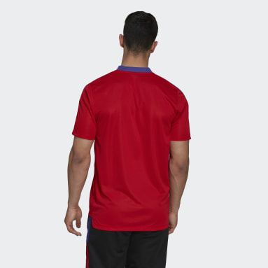 Men's Soccer Red Tiro Primeblue Training Jersey