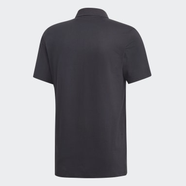 Men Sportswear Black Must Haves Plain Polo Shirt