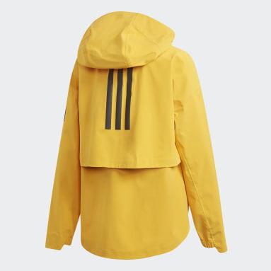 Chaqueta impermeable MYSHELTER Amarillo Mujer Caminar
