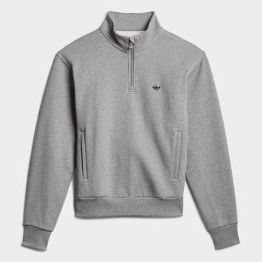 Originals Grå Heavyweight Shmoofoil 1/4 Zip sweatshirt