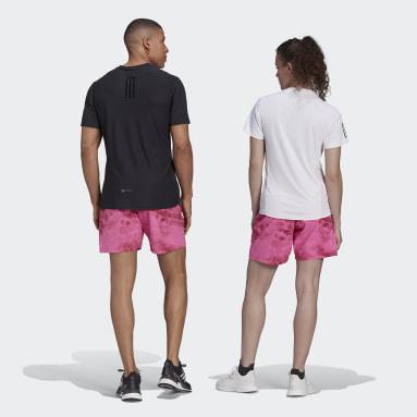 Cvičení A Trénink růžová Šortky Unite Floral (unisex)