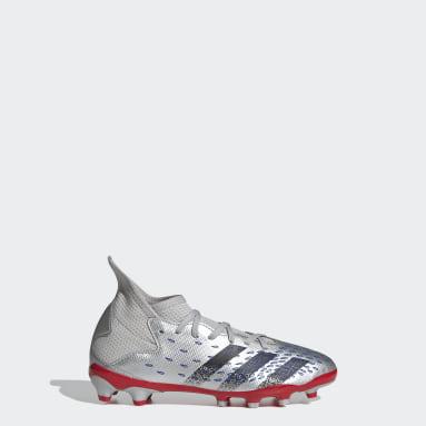 Chaussure Predator Freak.3 Multi-surfaces Argent Enfants Football