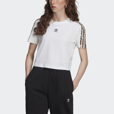 Camiseta Cropped Blanco Mujer Originals