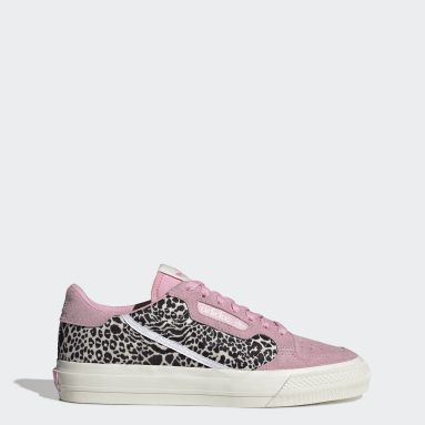 Women's Originals Pink Continental Vulc Shoes