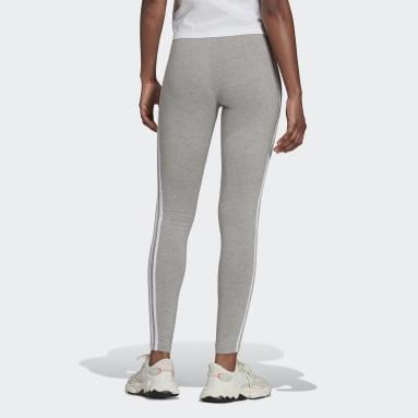 Women Originals Grey Adicolor Classics 3-Stripes Leggings