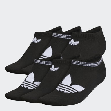 Women's Originals Black Trefoil Superlite No-Show Socks 6 Pairs