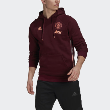 Men Football Red Manchester United Travel Hoodie