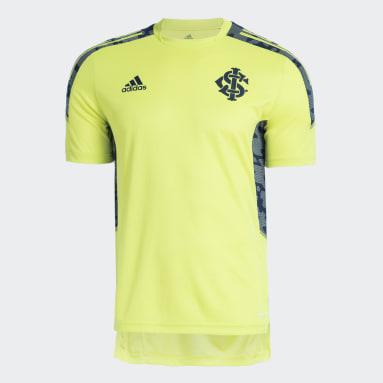 Camisa Treino Internacional Amarelo Homem Futebol