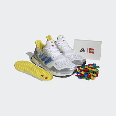 Men Running White adidas Ultraboost DNA x LEGO® Plates Shoes