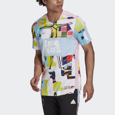 Camiseta Tiro adidas Love Unites Rosa Hombre Fútbol