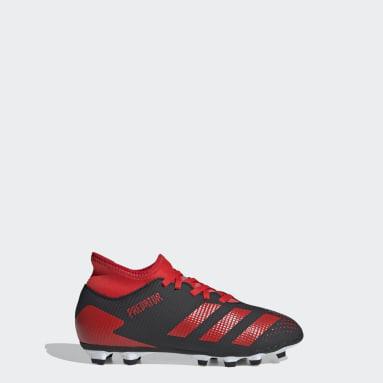 Kids 4-8 Years Football Black Predator 20.4 IIC Flexible Ground Boots