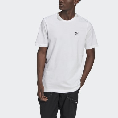 Heren Originals Wit LOUNGEWEAR Adicolor Essentials Trefoil T-shirt