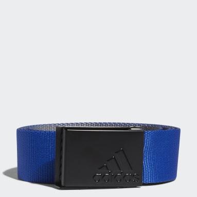 Men Golf Blue Reversible Web Belt