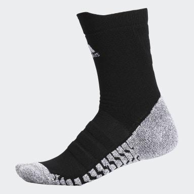 Men's Training Black Alphaskin Traxion Lightweight Cushioned Crew Socks