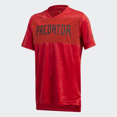 Jersey Predator Estampado Rojo Niño Training