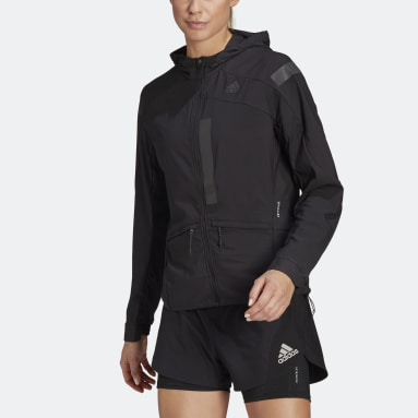 Women Running Black Marathon Translucent Jacket