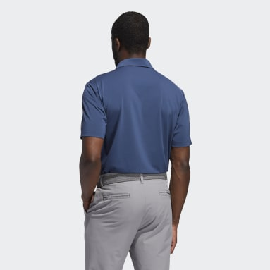Men Golf Blue Ultimate365 Solid Polo Shirt