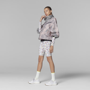 Women's adidas by Stella McCartney Pink adidas by Stella McCartney Future Playground Half-Zip Printed Jacket