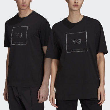 Y-3 Black Y-3 Reflective Square Logo Short Sleeve Tee