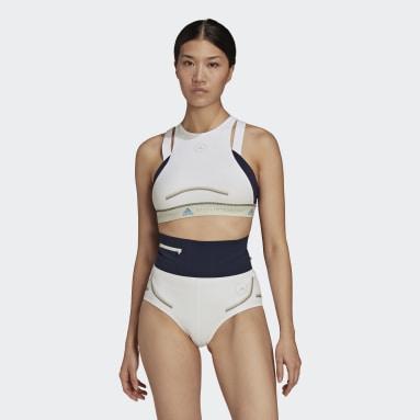 Kvinder adidas by Stella McCartney Hvid adidas by Stella McCartney BeachDefender bikinitop