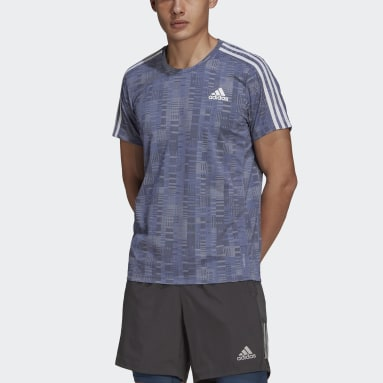 Men Running Purple adidas Own The Run Primeblue Tee