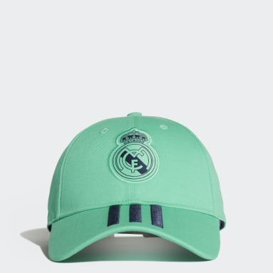 Fotbal zelená Kšiltovka Real Madrid 3-Stripes