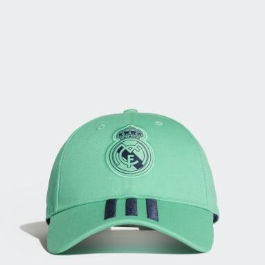 Fotboll Grön Real Madrid 3-Stripes Cap