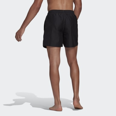 Men's Swim Black Solid Swim Shorts