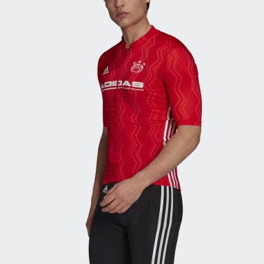 Heren Wielrennen Rood The Short Sleeve Graphic Fietsshirt