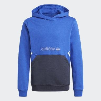 Camisola com Capuz adidas SPRT Collection Azul Criança Originals
