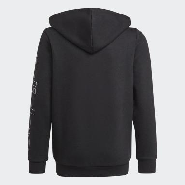 Hoodie Essentials Nero Ragazzo Sportswear