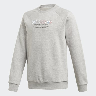 Sweat-shirt Adicolor Crew Gris Enfants Originals