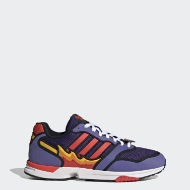 Men's Originals Purple ZX 1000 The Simpsons Flaming Moe Shoes