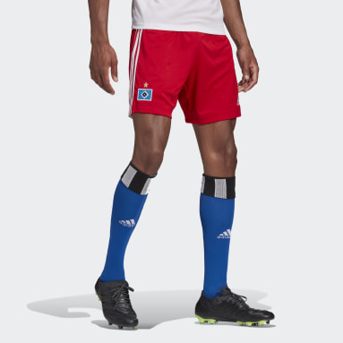 Football Red Hamburger SV 20/21 Home Shorts