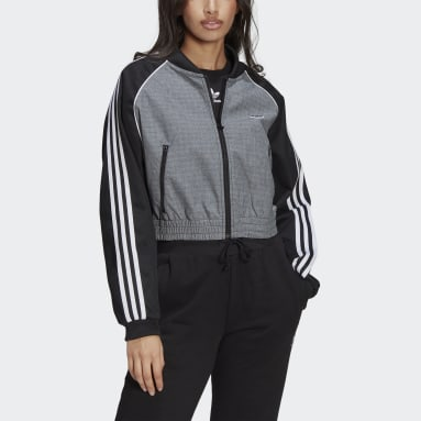 Women Originals Black Cropped Track Jacket