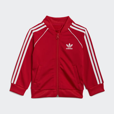 Kids Originals Red Adicolor SST Track Suit