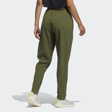 Women Training Green Woven Training Pants