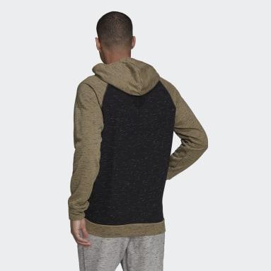 Men Sportswear Black Essentials Mélange Small Logo Hoodie