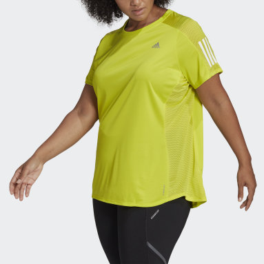 T-shirt Own the Run (Grandes tailles) Jaune Femmes Running