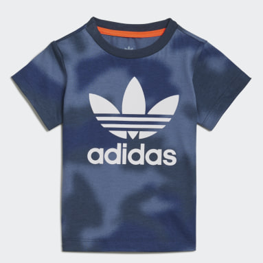 Jongens Originals Blauw Allover Print Camo T-shirt