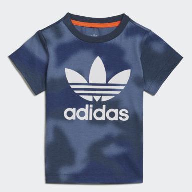Allover Print Camo T-skjorte Blå