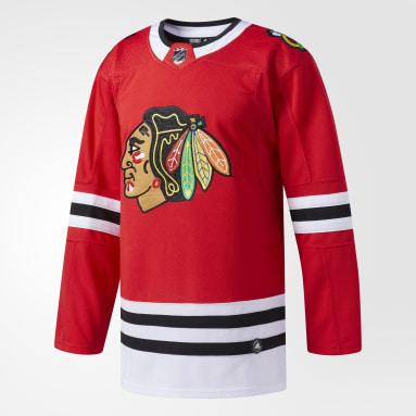 Maillot Blackhawks Domicile Authentique Pro rouge Hockey