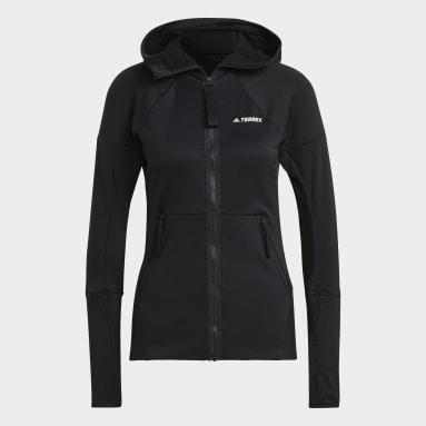 Dam TERREX Svart Terrex Tech Hooded Fleece Hiking Jacket