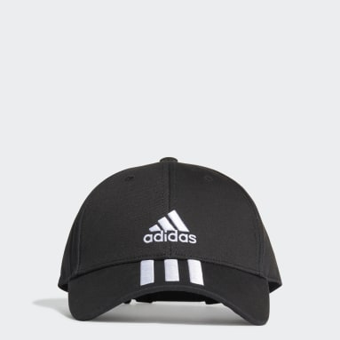 Cricket Black Baseball 3-Stripes Twill Cap