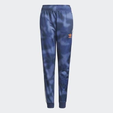 Kluci Originals modrá Kalhoty Allover Print Camo SST