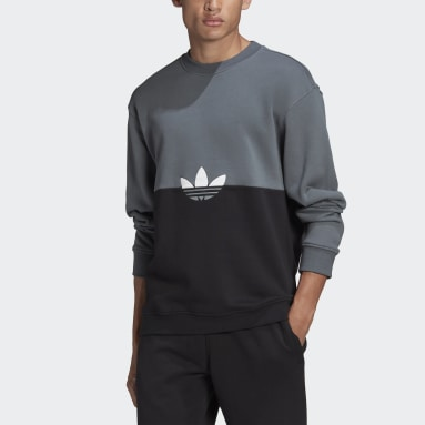 Heren Originals Zwart Adicolor Sliced Trefoil Sweatshirt