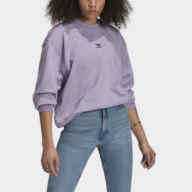 Dames Originals Paars LOUNGEWEAR Adicolor Essentials Sweatshirt