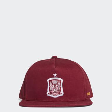 Gorra Snapback España (UNISEX) Granate Fútbol