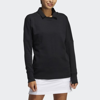 Women's Golf Black Go-To Recycled Content Crew Sweatshirt
