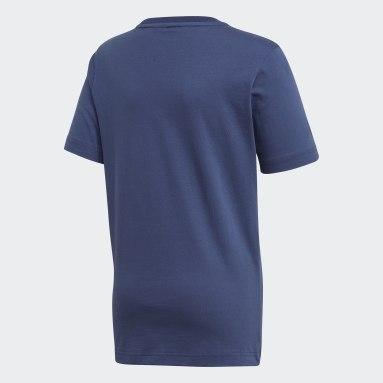 Must Haves  T-shirt Badge of Sport Bleu Garçons Yoga